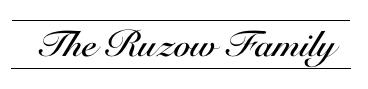 Ruzow Family logo